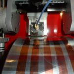 Photovoltaic inks are use to print solar cells on a bench-top roll-to-roll coater at the University of Washington