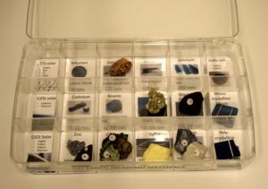 A collection of minerals and metals that are Earth abundant or rare