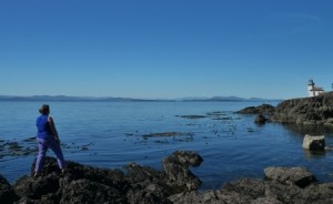 The author on San Juan Island reflecting on a clean energy future.