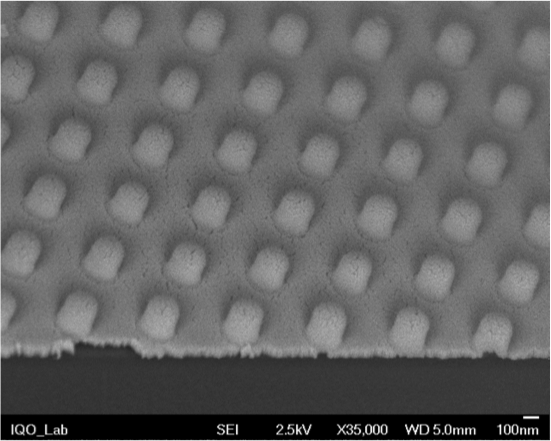 Nano imprinted anti reflective coating. SEM